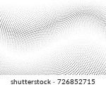 abstract halftone wave dotted... | Shutterstock .eps vector #726852715