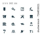 building icons set. collection... | Shutterstock .eps vector #726853021