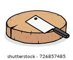 chopping block and kitchen... | Shutterstock .eps vector #726857485
