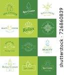 beauty healthcare spa badge... | Shutterstock .eps vector #726860839