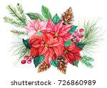 new year tree branch with... | Shutterstock . vector #726860989