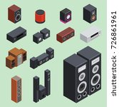 home isometric sound system... | Shutterstock .eps vector #726861961