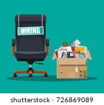 office chair  sign vacancy. box ... | Shutterstock .eps vector #726869089