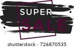 universal grunge black paint... | Shutterstock .eps vector #726870535