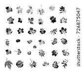 vector set with stamp leaves.... | Shutterstock .eps vector #726875047