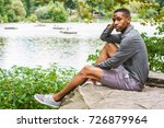young african american man... | Shutterstock . vector #726879964