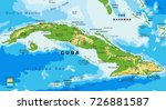 Physical Map Of Cuba