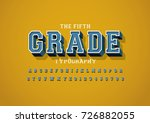 vector of bold vintage font and ... | Shutterstock .eps vector #726882055