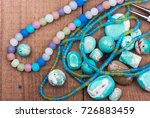 Turquoise Beads  Colorful Glas...