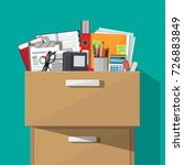 office furniture. case  box... | Shutterstock . vector #726883849