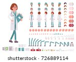 female doctor character... | Shutterstock .eps vector #726889114