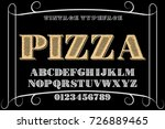 vintage font alphabet... | Shutterstock .eps vector #726889465