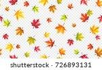 autumn leaves flying on wind... | Shutterstock .eps vector #726893131
