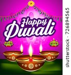 happy diwali celebration... | Shutterstock .eps vector #726894565