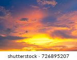 Cloud With Colorful Sky At...