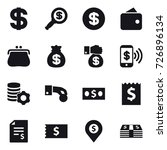 16 vector icon set   dollar ... | Shutterstock .eps vector #726896134