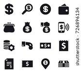 16 vector icon set   dollar ... | Shutterstock .eps vector #726896134