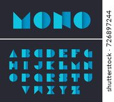 geometric font. alphabet with... | Shutterstock .eps vector #726897244