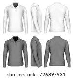 men's long sleeve polo shirt...   Shutterstock .eps vector #726897931