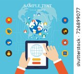 template social network... | Shutterstock .eps vector #726899077
