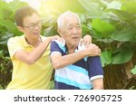 asian old man shoulder pain ... | Shutterstock . vector #726905725
