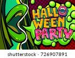 halloween illustration. open... | Shutterstock .eps vector #726907891