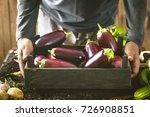 organic vegetables. farmers... | Shutterstock . vector #726908851