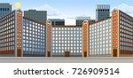 city landscape. building.... | Shutterstock .eps vector #726909514