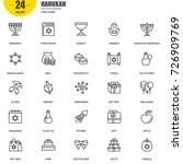 simple set of hanukah related... | Shutterstock .eps vector #726909769
