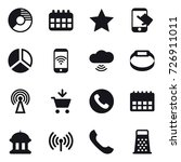 16 vector icon set   circle...