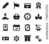 16 vector icon set   marker ... | Shutterstock .eps vector #726911251