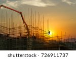 construction worker on... | Shutterstock . vector #726911737