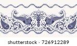vector seamless pattern.... | Shutterstock .eps vector #726912289