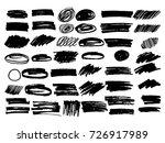 vector black paint  ink brush... | Shutterstock .eps vector #726917989