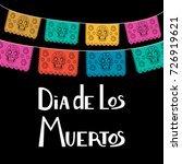 mexican day of the death poster ... | Shutterstock .eps vector #726919621