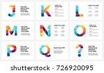 vector alphabet infographic ... | Shutterstock .eps vector #726920095