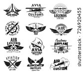 avia customs and retro aviation ... | Shutterstock .eps vector #726920455