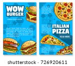 fast food restaurant poster set ... | Shutterstock .eps vector #726920611