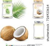 coconut oil bottle illustration | Shutterstock .eps vector #726923614
