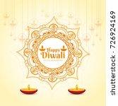 modern elegant diwali bright... | Shutterstock .eps vector #726924169