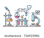 chemical scientific experiment | Shutterstock .eps vector #726925981