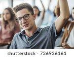 high school student boy sitting ... | Shutterstock . vector #726926161