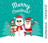 merry christmas greeting card... | Shutterstock .eps vector #726926737
