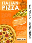 pizza poster for italian... | Shutterstock .eps vector #726937495