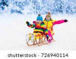 little girl and boy enjoying...   Shutterstock . vector #726940114