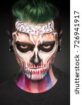 View Of Man With Green Hair An...