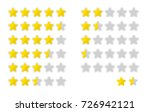 five stars rating icon set