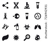 16 vector icon set   molecule ...   Shutterstock .eps vector #726942931
