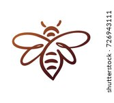 bee logo  bee vector  honey | Shutterstock .eps vector #726943111
