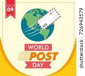 world post day or international ... | Shutterstock .eps vector #726943579
